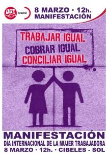 15-03-08 Dia Mujer Trabajadora 2015 CARTEL Manifestacion pq